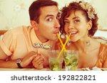 portrait of a beautiful married ...   Shutterstock . vector #192822821