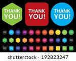 thank you button | Shutterstock .eps vector #192823247