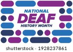 national deaf history month.... | Shutterstock .eps vector #1928237861