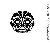 tiki face  mask or totem.... | Shutterstock .eps vector #1928242541