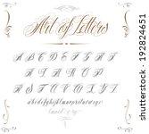 elegant handmade tattoo alphabet | Shutterstock .eps vector #192824651