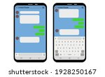 Vector Chatting Screen With...