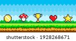 pixel art game background with...