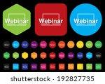 webinar icon   Shutterstock .eps vector #192827735