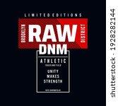raw denim typography graphic... | Shutterstock .eps vector #1928282144
