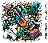 science cartoon vector doodle... | Shutterstock .eps vector #1928300291
