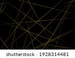 abstract black with gold lines  ... | Shutterstock .eps vector #1928314481