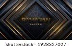 ramadan kareem. black paper... | Shutterstock .eps vector #1928327027
