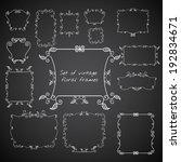 set of vintage floral frames....   Shutterstock .eps vector #192834671