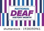 national deaf history month.... | Shutterstock .eps vector #1928350961