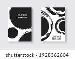 black ink brush stroke on white ... | Shutterstock .eps vector #1928362604