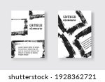 set of two grunge flyer... | Shutterstock .eps vector #1928362721