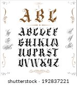 famous tattoo old english...   Shutterstock .eps vector #192837221