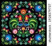 polish retro folk art square... | Shutterstock .eps vector #1928379737