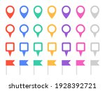 set of colorful map pins.... | Shutterstock .eps vector #1928392721