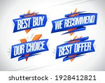 best buy  we recommended  our...   Shutterstock .eps vector #1928412821