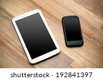cell phone and tablet with... | Shutterstock . vector #192841397
