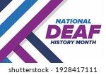 national deaf history month.... | Shutterstock .eps vector #1928417111