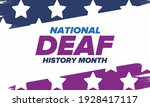national deaf history month.... | Shutterstock .eps vector #1928417117