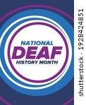 national deaf history month.... | Shutterstock .eps vector #1928424851