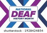 national deaf history month.... | Shutterstock .eps vector #1928424854