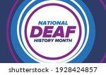 national deaf history month.... | Shutterstock .eps vector #1928424857