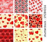 collection of seamless vector... | Shutterstock .eps vector #19284316