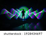one person standing against...   Shutterstock . vector #1928434697