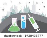 covid 19 vaccine.  coronavirus... | Shutterstock .eps vector #1928438777