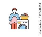 Laundry Color Line Icon....