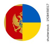 round icon with montenegro and... | Shutterstock .eps vector #1928458517