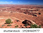United States nature - Canyonlands National Park in Utah. Island in the sky district.