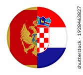 round icon with montenegro and... | Shutterstock .eps vector #1928463827