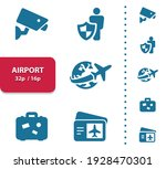 airport  tourism icons.... | Shutterstock .eps vector #1928470301