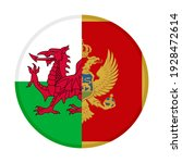 round icon with wales and... | Shutterstock .eps vector #1928472614