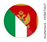 round icon with italy and... | Shutterstock .eps vector #1928473427