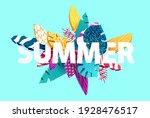 summer lettering design.... | Shutterstock .eps vector #1928476517
