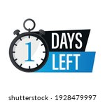 1 day left  stopwatch design... | Shutterstock .eps vector #1928479997