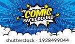 pop art comic background with... | Shutterstock .eps vector #1928499044