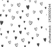 hand drawn doodle hearts... | Shutterstock .eps vector #1928500244
