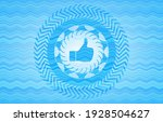 like icon inside sky blue water ... | Shutterstock .eps vector #1928504627