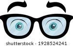 vector emoticon illustration of ... | Shutterstock .eps vector #1928524241