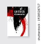 red black ink brush stroke on... | Shutterstock .eps vector #1928528717
