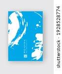 blue ink brush stroke on white... | Shutterstock .eps vector #1928528774