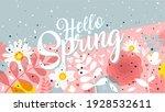hello spring banner. trendy...   Shutterstock .eps vector #1928532611