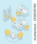 isometric office interior  ...   Shutterstock .eps vector #1928539784