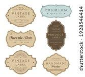 vintage labels and tag frames... | Shutterstock .eps vector #1928546414