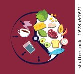 intermittent fasting concept.... | Shutterstock .eps vector #1928564921