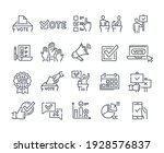 simple set of voting related... | Shutterstock .eps vector #1928576837