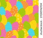 easter egg pattern. flat...   Shutterstock .eps vector #1928596934